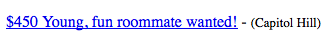 Bad Roommate Ad Craigslist