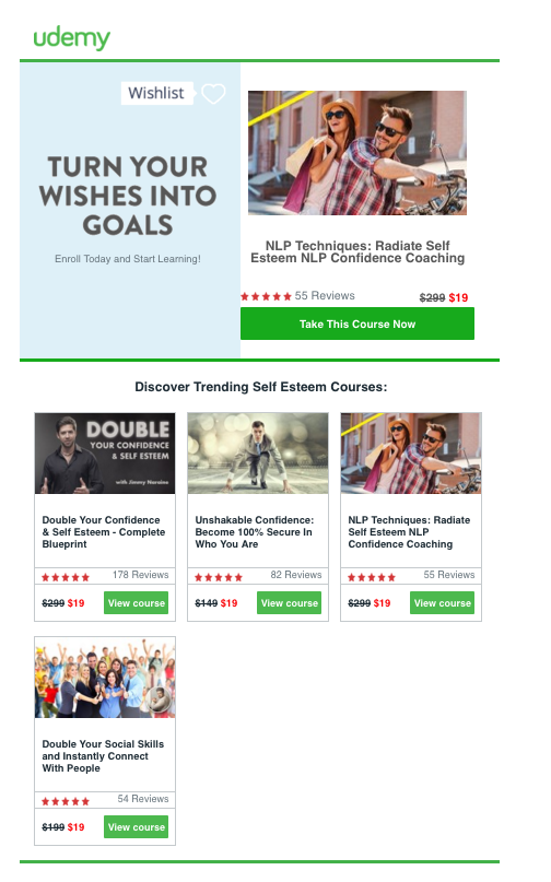 Holiday Email Conversion Content