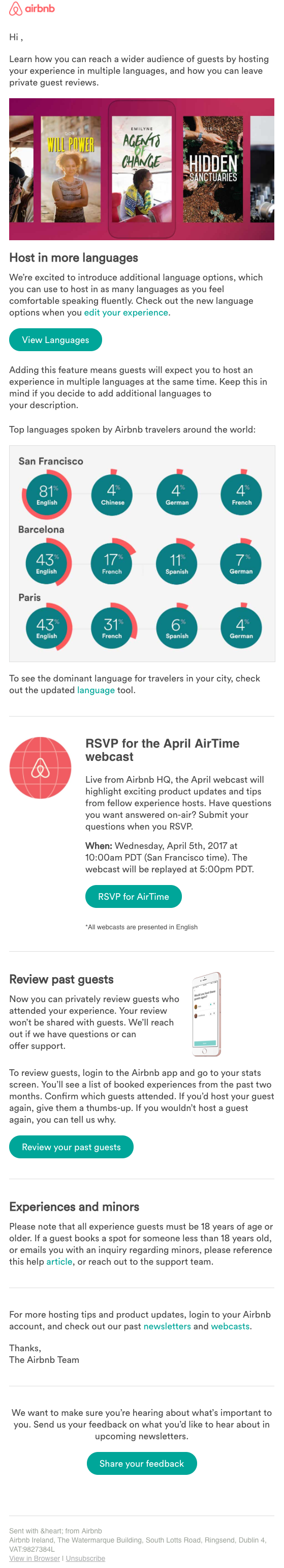 Alexandra Friedman Writing Samples Airbnb Emails Newsletters